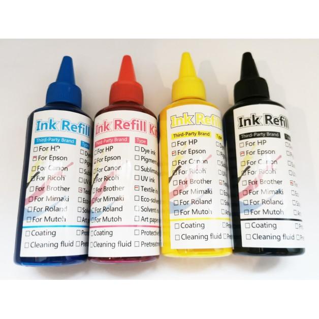 Tiešās apdrukas tintes komplekts 400ml CYMK