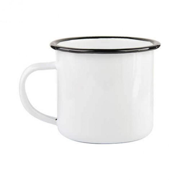 "Metāla sublimācijas krūze 340ml ""340 ml Enamelled mug with black edge lining"""
